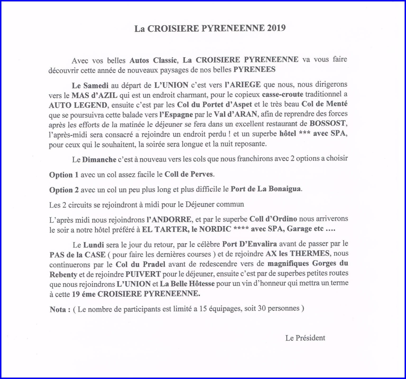 Croisiere presentation 2019